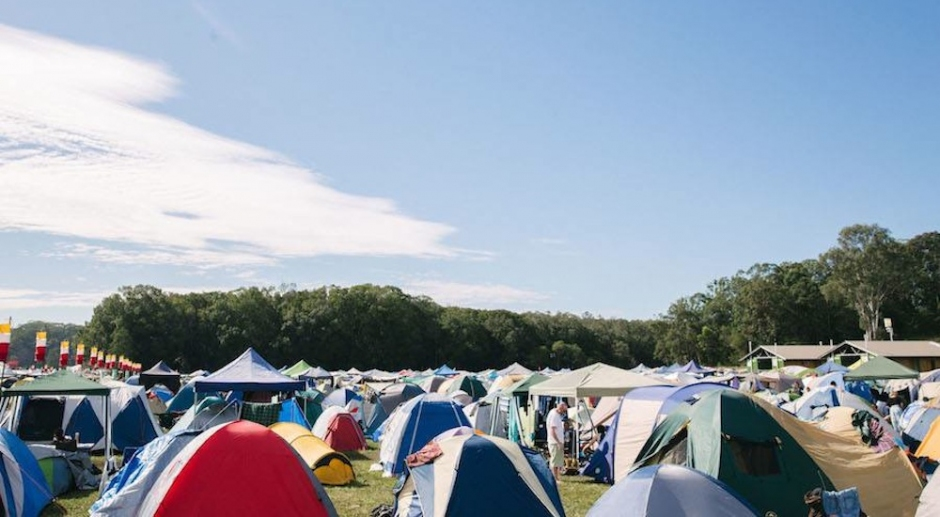 Camping music festivals