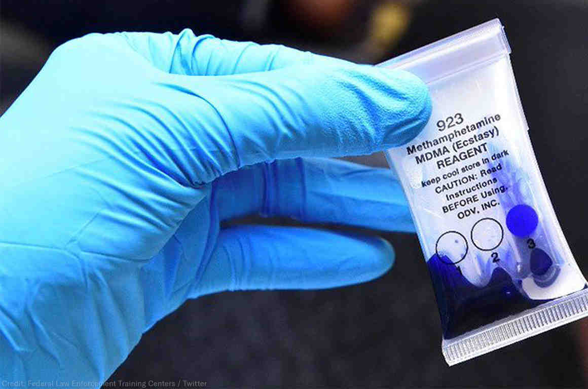 Cops offer to test drugs for free so you don't have to spend your money on a test kit