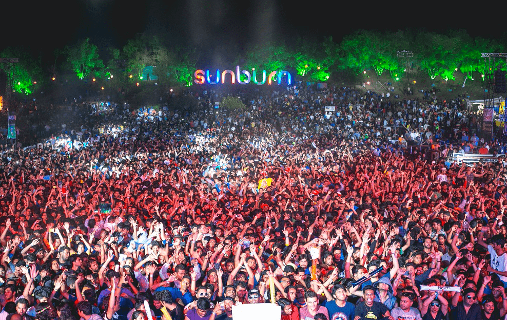 Sunburn music festival in India breaks guinness world records for largest cock fest